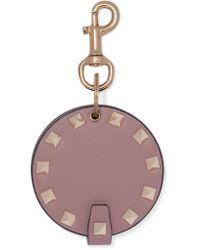 Valentino - Multicolor Garavani The Rockstud Leather Keychain - Lyst