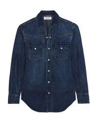 Saint Laurent | Blue Classic Denim Shirt | Lyst