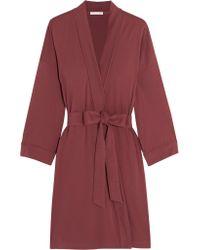 Skin | Purple Pima Cotton-jersey Robe | Lyst