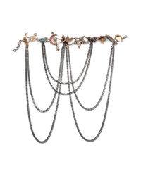 Alexander McQueen | Metallic Silver-tone Multi-stone Necklace | Lyst