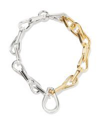 Annelise Michelson | Metallic Ellipse Gold And Silver-plated Choker | Lyst