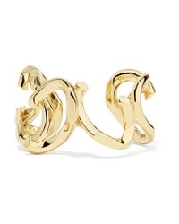 Annelise Michelson | Metallic Déchainée Gold-plated Cuff | Lyst