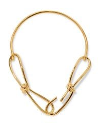 Annelise Michelson - Metallic Wire Gold-plated Necklace - Lyst