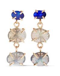 Melissa Joy Manning - Metallic 14-karat Gold, Labradorite And Opal Earrings - Lyst