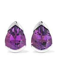 Fernando Jorge | Multicolor Bloom 18-karat White Gold, Diamond And Amethyst Earrings | Lyst