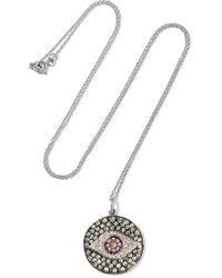 Ileana Makri - Dawn 18-karat White Gold, Sapphire And Diamond Necklace - Lyst