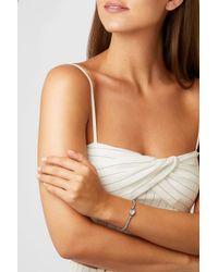 Brooke Gregson - Metallic Orbit 14-karat Rose Gold, Sterling Silver And Aquamarine Bracelet - Lyst