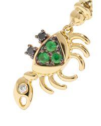 Yvonne Léon - Metallic 18-karat Gold, Diamond And Tsavorite Earring - Lyst