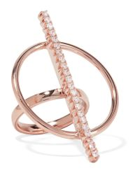 Ryan Storer - Pink Rose Gold-plated Crystal Ring - Lyst
