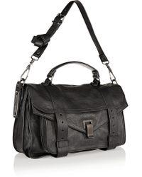 Proenza Schouler - Black The Ps1 Medium Leather Satchel - Lyst