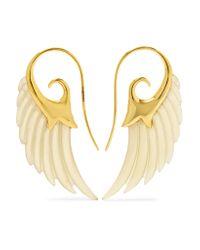 Noor Fares - Metallic Wing 18-karat Gold Horn Earrings - Lyst