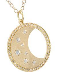 Andrea Fohrman - Metallic Waning/ Waxing Moon Phase 14-karat Gold Diamond Necklace - Lyst