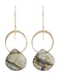 Melissa Joy Manning | Metallic 14-karat Gold And Labradorite Earrings | Lyst
