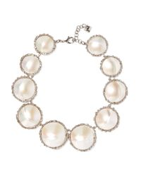 Rosantica | Metallic Carducci Palladium-tone Mother-of-pearl Necklace | Lyst