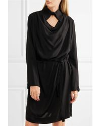 Vivienne Westwood Anglomania - Black Tondo Cutout Draped Jersey Shirt Dress - Lyst