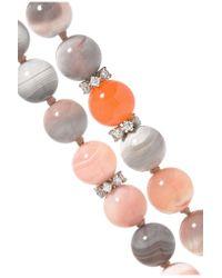 Carolina Bucci - Multicolor Recharmed 18-karat White Gold, Agate And Diamond Necklace - Lyst