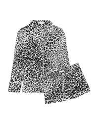 Equipment - Black Lillian Leopard-print Washed-silk Pajama Set - Lyst