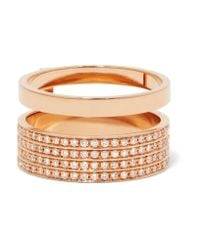 Repossi | Multicolor Berbère 18-karat Rose Gold Diamond Ring | Lyst