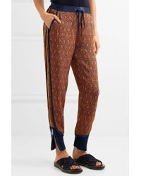3.1 Phillip Lim - Multicolor Silk Satin-trimmed Jacquard Tapered Pants - Lyst