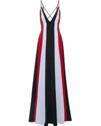 Gabriela Hearst | Red Somerset Striped Silk-crepe Gown | Lyst