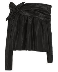 Isa Arfen - Black Silk Off-the-shoulder Top - Lyst