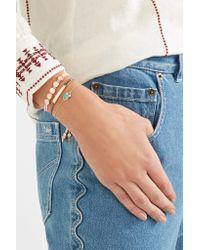 Monica Vinader - Metallic Siren Rose Gold Vermeil Amazonite Bracelet - Lyst