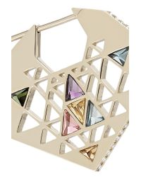 Noor Fares - Metallic Chandbali 18-karat Gray Gold Multi-stone Earrings - Lyst