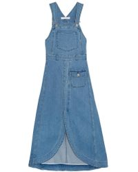 See By Chloé | Blue Denim Midi Dress | Lyst