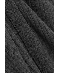 Calvin Klein - Gray Ribbed Cashmere-blend Cardigan - Lyst