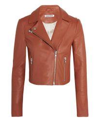 Elizabeth and James | Multicolor Gigi Cropped Leather Biker Jacket | Lyst