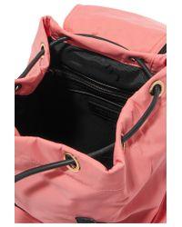 Burberry - Pink Sac à Dos En Gabardine à Finitions En Cuir - Lyst