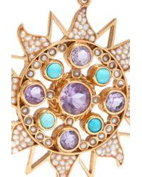 Percossi Papi - Purple Gold-plated Multi-stone Earrings - Lyst