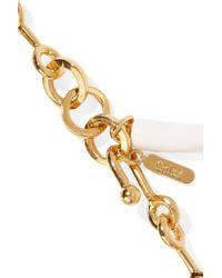 Chloé - Metallic Sloan Gold-tone, Enamel And Resin Bracelet - Lyst