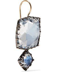 Larkspur & Hawk - Metallic Sadie Rhodium-dipped Quartz Earrings - Lyst