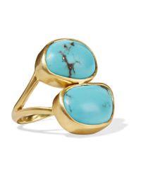 Pippa Small - Metallic 18-karat Gold Turquoise Ring Gold M - Lyst