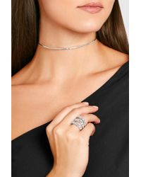 Suzanne Kalan - 18-karat White Gold Diamond Choker - Lyst