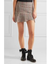 Étoile Isabel Marant - Multicolor Jevil Plaid Linen Mini Skirt - Lyst
