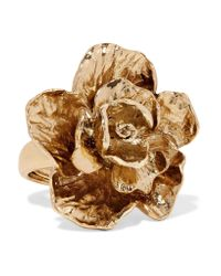 Oscar de la Renta | Metallic Gold-plated Ring | Lyst