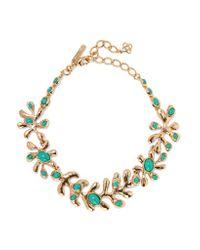 Oscar de la Renta | Metallic Sea Tangle Gold-plated Resin Necklace | Lyst
