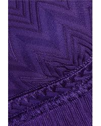 Missoni - Purple Mare Fringed Crochet-knit Bikini - Lyst