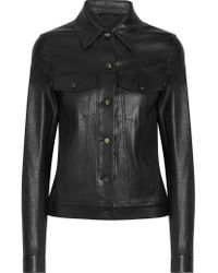 The Row | Black Coltra Bonded Stretch-leather Jacket | Lyst