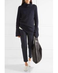 The Row   Blue Blake Stretch-cotton Slim-leg Pants   Lyst