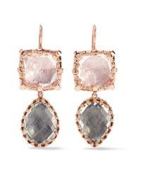 Larkspur & Hawk - Multicolor Sadie Rose Gold-dipped Quartz Earrings - Lyst