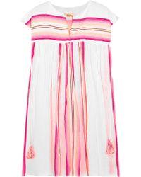 Lemlem - Pink Elsi Striped Cotton-blend Gauze Kaftan - Lyst