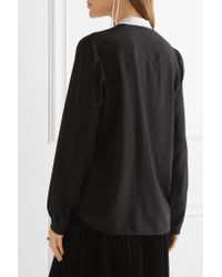 Stella McCartney Black Eva Silk Crepe De Chine Blouse