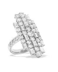 Anita Ko | Cluster 18-karat White Gold Diamond Ring | Lyst