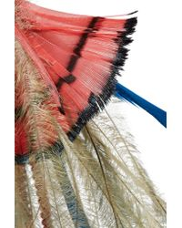 Etro | Red Bead And Feather Earrings | Lyst