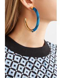 Marni - Blue Gold-tone Cord Earrings - Lyst