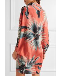 Adriana Degreas - Multicolor Floral-print Silk Crepe De Chine Coverup - Lyst