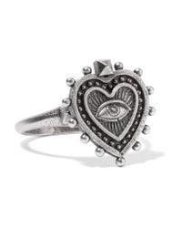 Valentino - Metallic Burnished Silver-tone Ring - Lyst